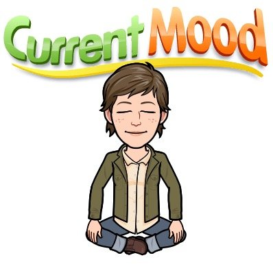 bitmoji icon meditating