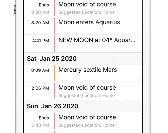 2021 astrology calendar for mobile